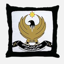 Kurdistan Coat of Arms Throw Pillow