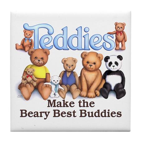 Teddy Buddies Tile Coaster