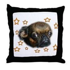 Smooth Brussels Griffon Throw Pillow