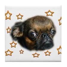 Smooth Brussels Griffon Tile Coaster