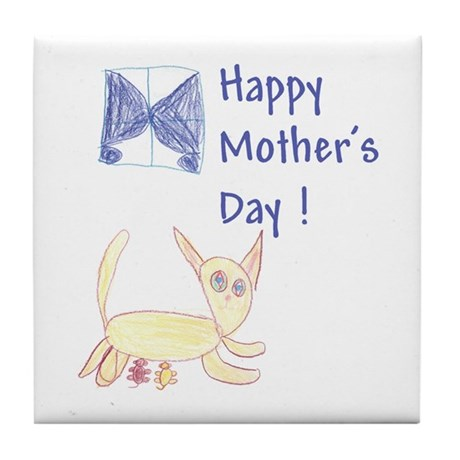 Cat's Meow! Mother's Day Tile Coaster
