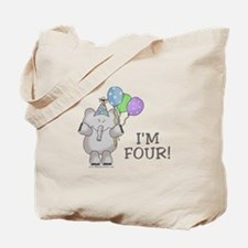 I'm Four (elephant) Tote Bag