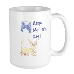 Cat's Meow! Mother's Day Large Ambidexterous Mug