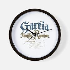 Garcia Family Reunion Wall Clock