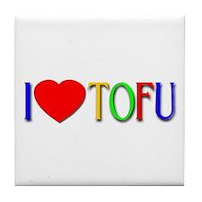 I Love Tofu Tile Coaster