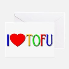 I Love Tofu Greeting Card