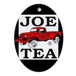 JOE TEA Oval Ornament