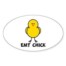 EMT Chick Oval Decal