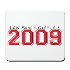 Law School Graduate 2009 (Red) Mousepad