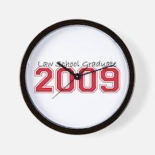 Law School Graduate 2009 (Red) Wall Clock