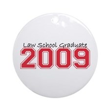 Law School Graduate 2009 (Red) Ornament (Round)