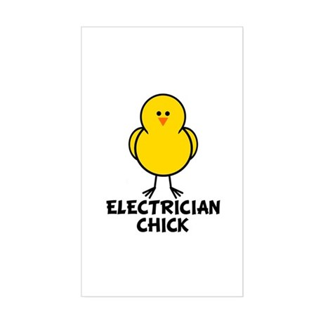 Electrician Chick Rectangle Sticker