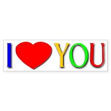 I Love You Bumper Bumper Sticker