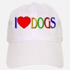 I Love Dogs Baseball Baseball Cap