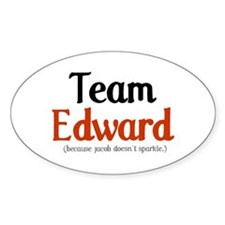 Team Edward Oval Decal