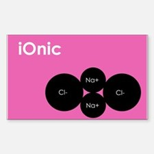 iOnic pink Rectangle Decal