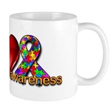 Peace, Love, Awareness Mug