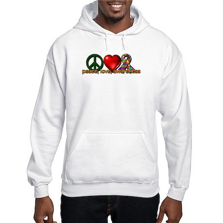 Peace, Love, Awareness Hooded Sweatshirt