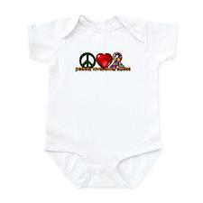 Peace, Love, Awareness Infant Bodysuit