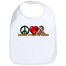 Peace, Love, Awareness Bib