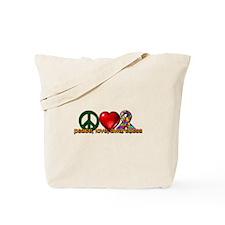 Peace, Love, Awareness Tote Bag