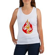 Tribal Fire Tattoo Women's Tank Top