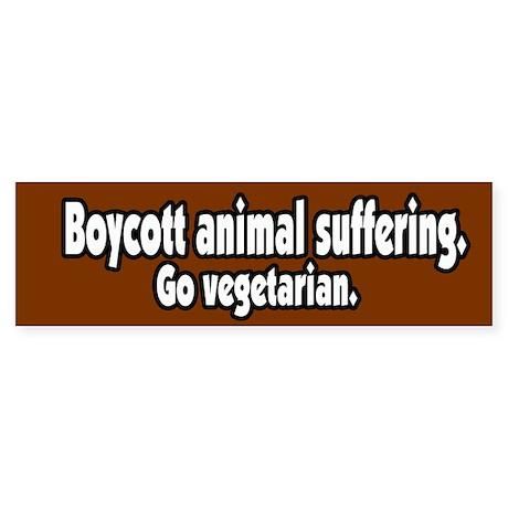 Boycott Animal Suffering Vegetarian BumperSticker