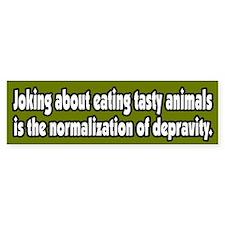 Recognize Depravity Vegetarian Bumper Bumper Sticker