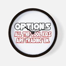 """Options...Cool Kids"" Wall Clock"
