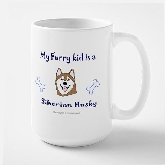 siberian husky gifts Large Mug