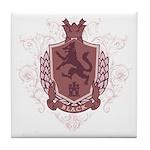 Black Family Crest Tile Coaster