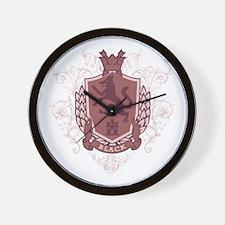 Black Family Crest Wall Clock