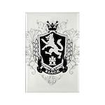 Black Family Crest Rectangle Magnet