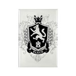 Black Family Crest Rectangle Magnet (10 pack)
