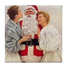 Vintage Christmas Santa Coaster