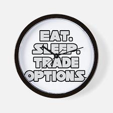 """""""Eat. Sleep. Trade Options."""" Wall Clock"""