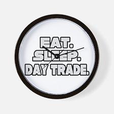 """""""Eat. Sleep. Day Trade."""" Wall Clock"""