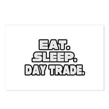 """""""Eat. Sleep. Day Trade."""" Postcards (Package of 8)"""