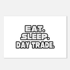 """Eat. Sleep. Day Trade."" Postcards (Package of 8)"