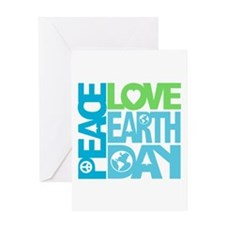 Peace Love Earth Day Graphic Greeting Card