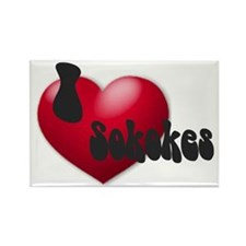 'I Love Sokokes!' Rectangle Magnet
