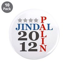 "Palin Jindal 2012 3.5"" Button (10 pack)"