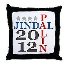 Palin Jindal 2012 Throw Pillow