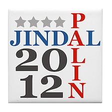 Palin Jindal 2012 Tile Coaster