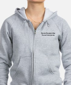 Cats Are Like Chips Zip Hoodie