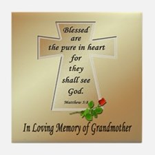 In Loving Memory of Grandmother Tile Coaster