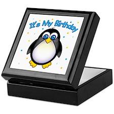 Birthday Penguin Keepsake Box