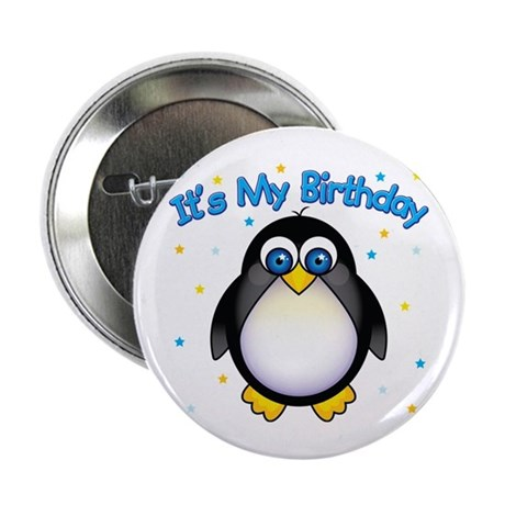 "Birthday Penguin 2.25"" Button"