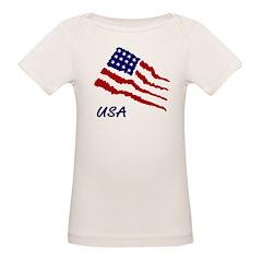 Organic Lap Tee American Flag BABY T-Shirt