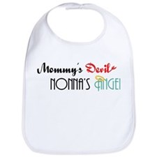 Mommy's Devil, Nonna's Angel Bib